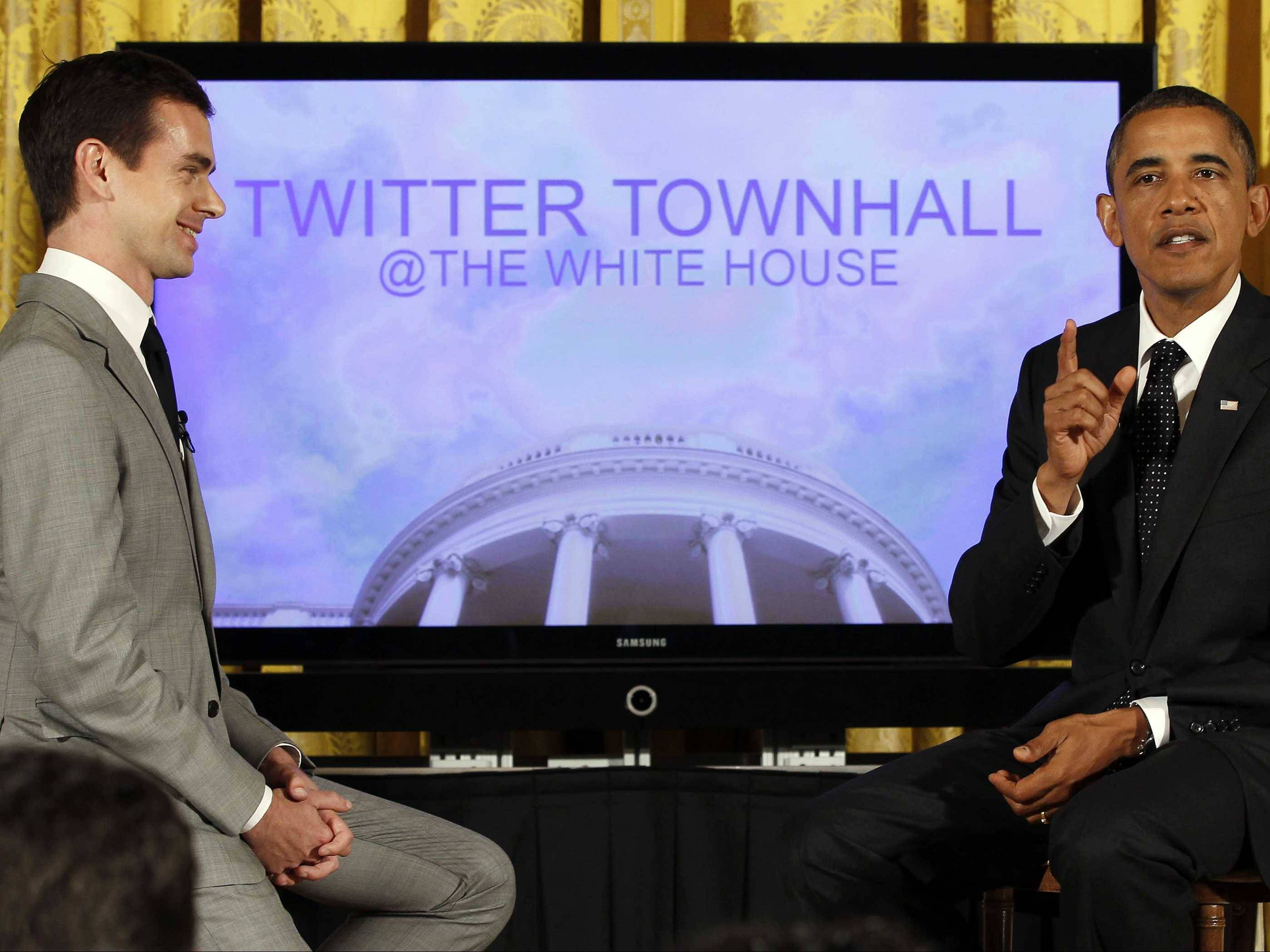 Dorsey interviews barack obama