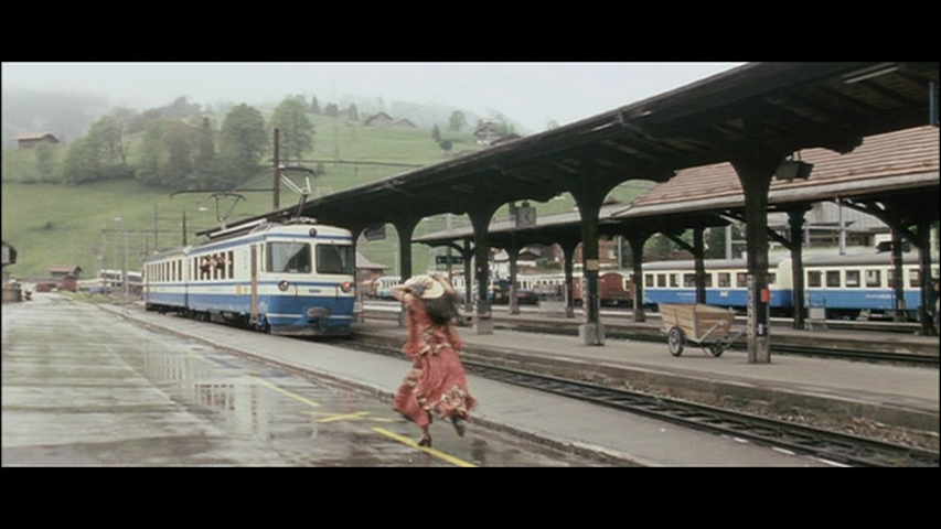 Missing the train in Zweisimmen switzerland ddlj
