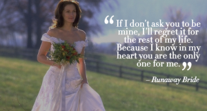 runway bride romantic dialogue