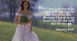 runway bride romantic dialogue