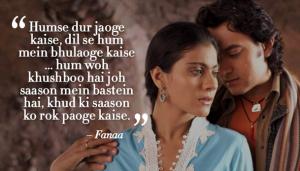 fanaa romantic dialogue