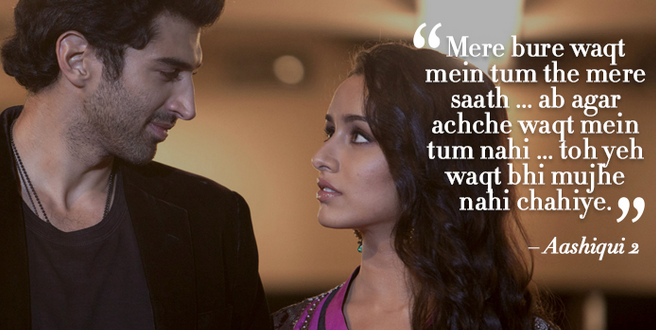 Aashiqui 2 romantic dialogue