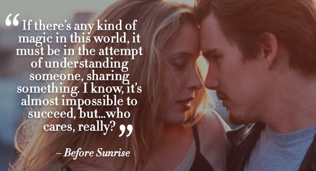 before sunrise romantic dialogue
