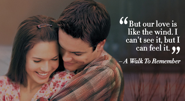 A walk to remember romantic dialogue