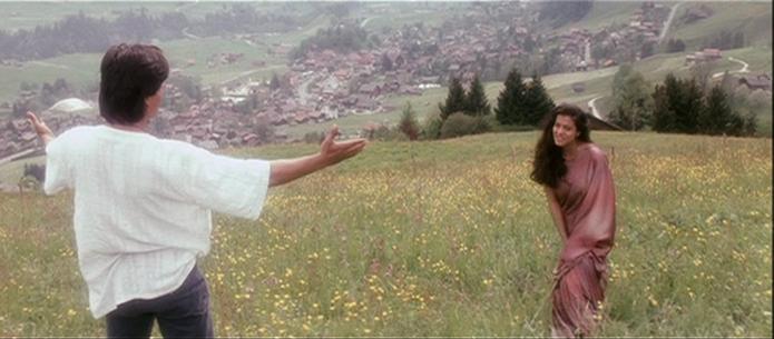 """Tujhe dekha tho"" song at Saanen in Switzerland"