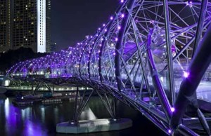 The Helix Bridge, Singapore