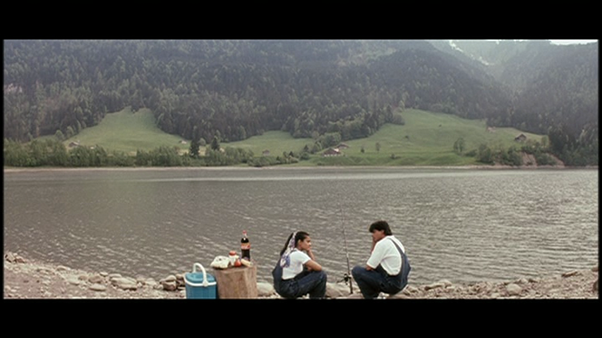 Tujhe dekha tho song at Lake Lungerer Lee in Switzerland