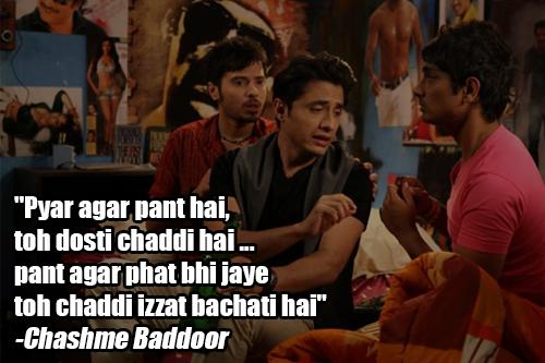 chashme baddoor movie dialogue