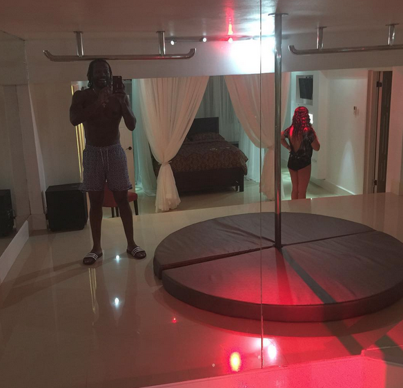 strip club in chris gayles house in jamaice