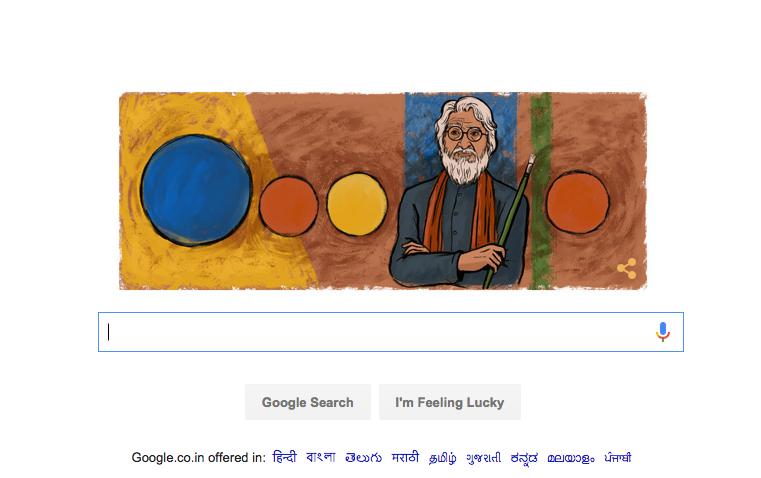 google doogle narendra modi MF Husain