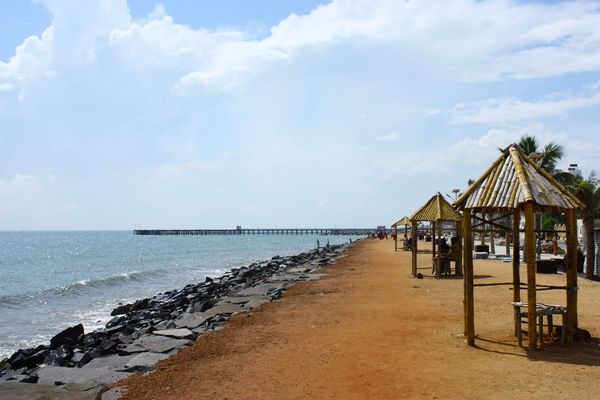 foreigners only beaches in pondichery