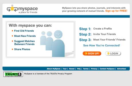 how did myspace looked when it was launched
