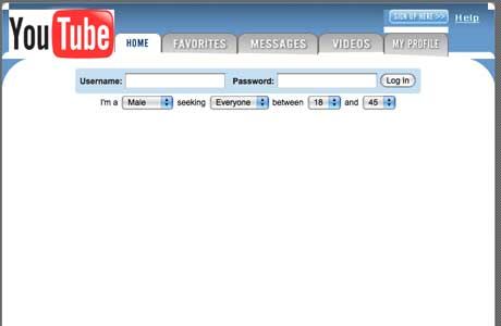 how did youtube website look when it was launched