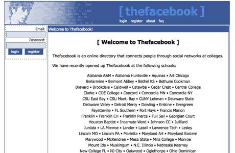 how facebook looked when it was launched