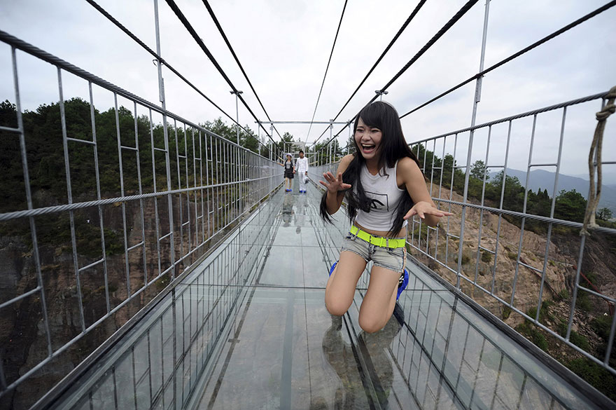 Chinas glass bottom walkway
