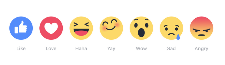 facebook new like button emoji