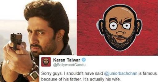 Tweet War Between Abhishek Bachchan And Bollywood Gandu On Twitter