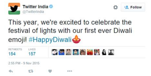 Checkout How Twitter Wishes India #HappyDiwali With A Diya Emoji