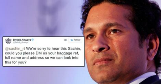 British Airways Just Asked Sachin Tendulkar His Full Name And Indians Are Going Crazy On Twitter
