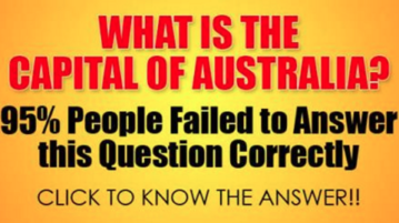 What Is the Capital Of Australia