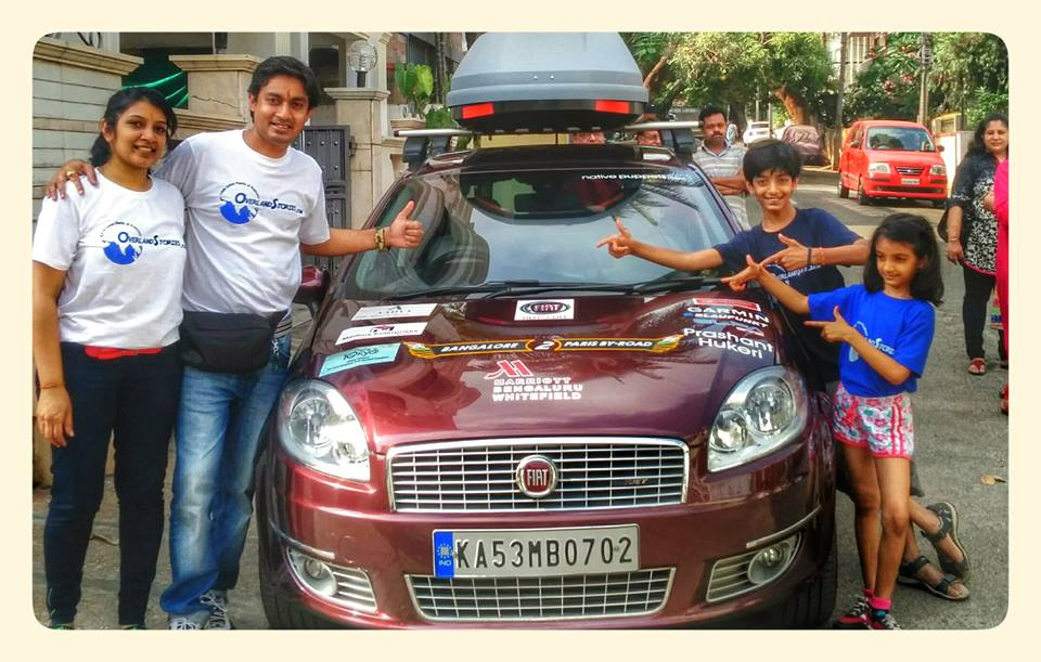 This Indian Family Drove Fiat Linea From Bengaluru To Paris Over 111 Days For Adventurous Trip