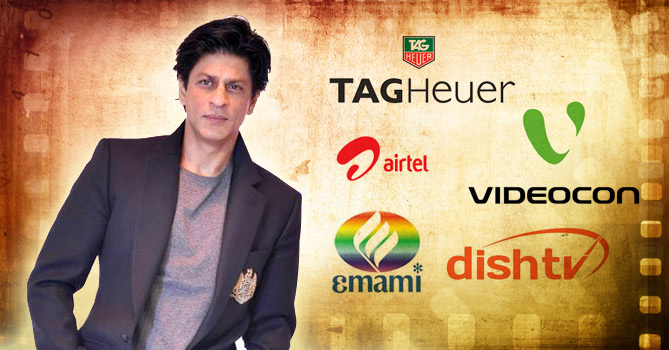 brands which srk endorses