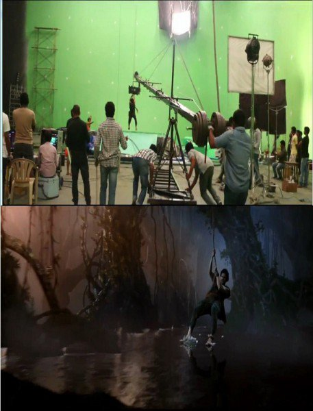 bahubali vfx effects scene mountain editing