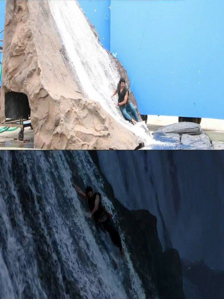 bahubali water fall scene edited