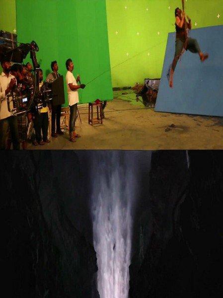 bahubali waterfall vfx effects