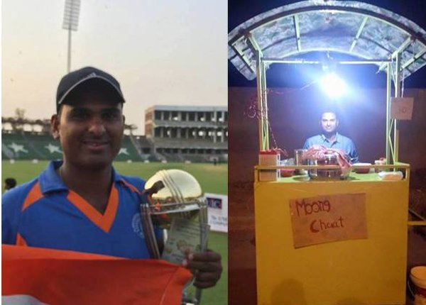 cricketer forced to sell moong kachori