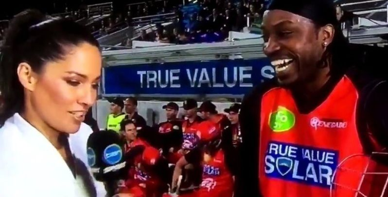 Chris Gayle tells reporter: 'Your eyes are beautiful, hopefully we can have a drink'