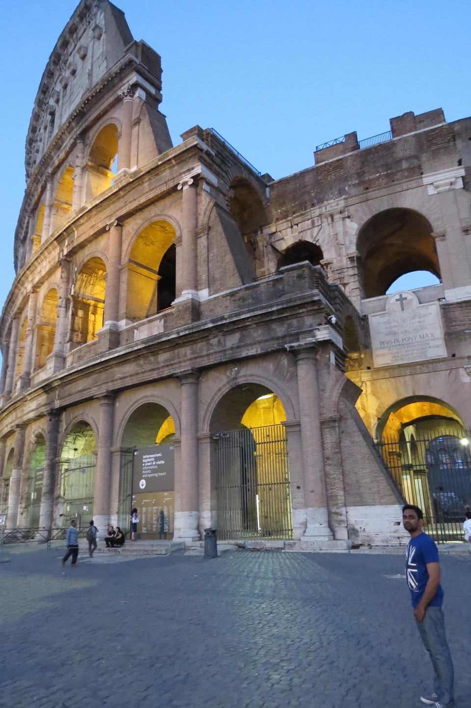 trip to Colosseum Rome