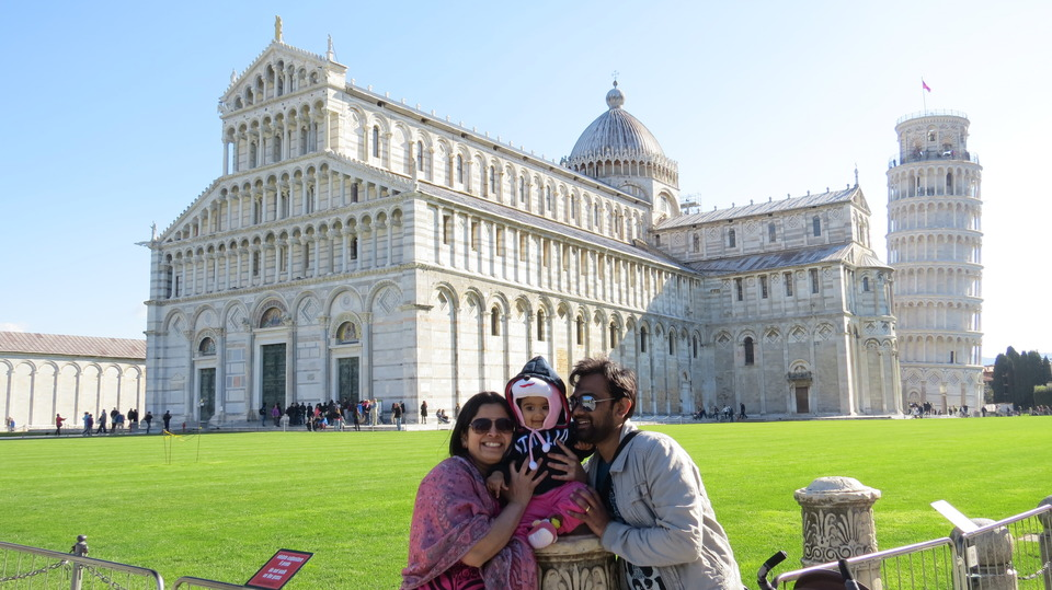trip to Pisa Italy