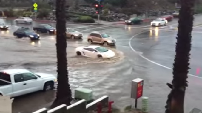 This Lamborghini Driver Thinks He's Driving A Submarine