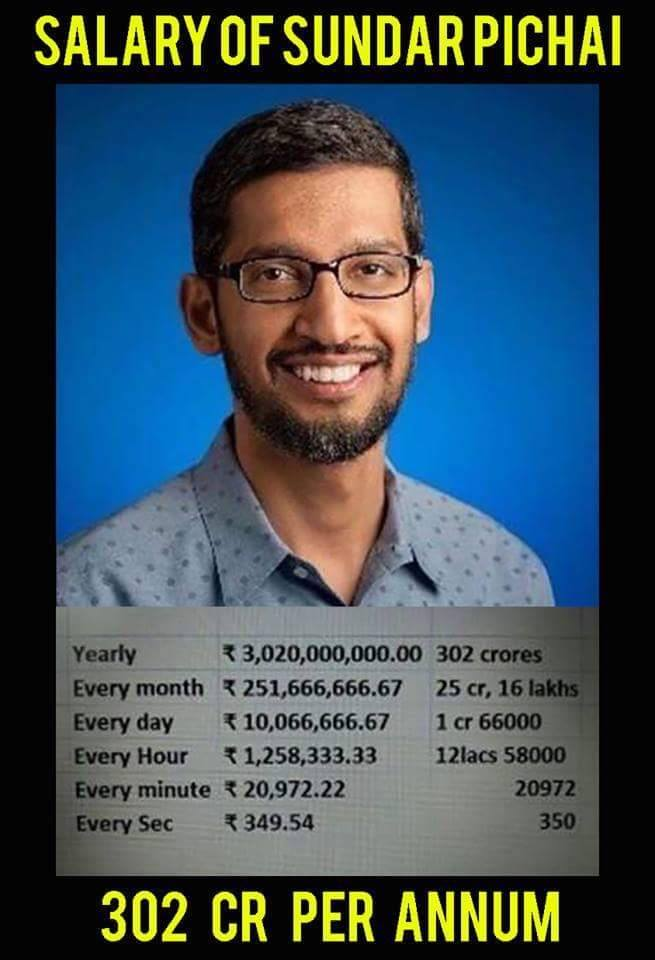 salary of sundar pichai