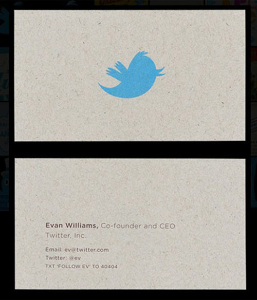 Best business cards yahoo image collections card design and card famous entrepreneur and their unique business cards dontgetserious evan williams twitter business card reheart image collections reheart Choice Image