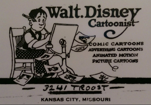 Walt Disney : Disney Studios Business Card