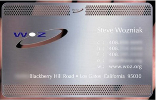 Steve Wozniak Apple Business Card