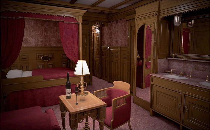 The First class cabins in Titanic 2