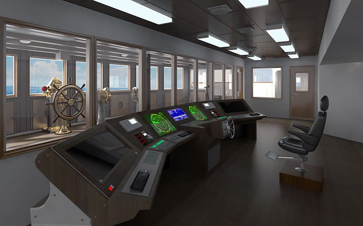 bridge wheel house in titanic 2