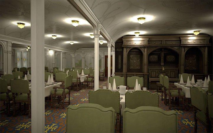 dining room in titanic 2