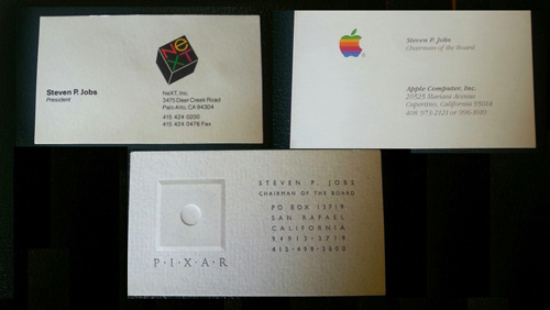Famous entrepreneur and their unique business cards dontgetserious steve jobs business card colourmoves
