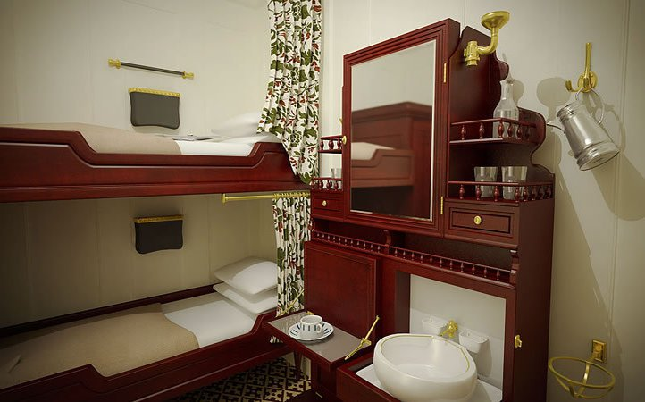 third class cabin in Titanic 2