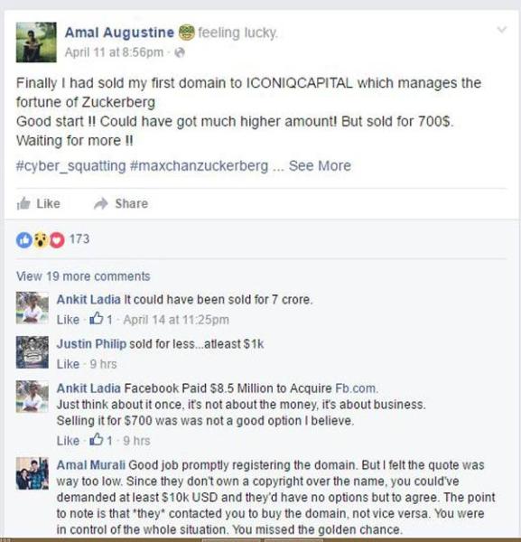 Mark Zuckerberg Bought maxchanzuckerberg.org From Kochi Engineering Student For Just $700