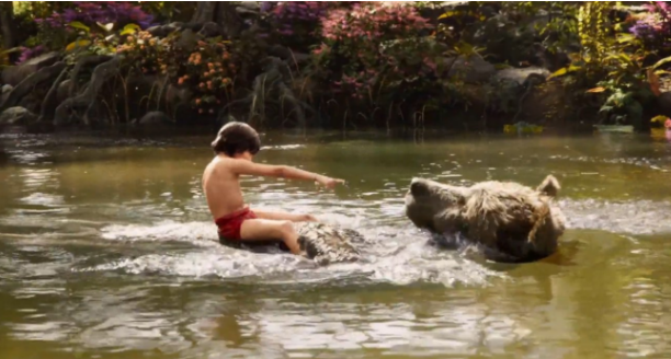 Baloo scene after VFX effects jungle book