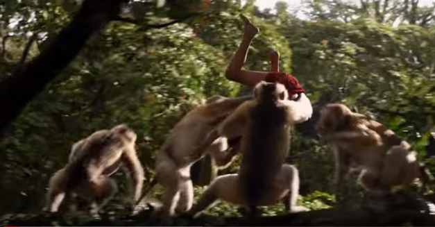 Getting kidnapped by monkeys with VFX effect jungle book scene