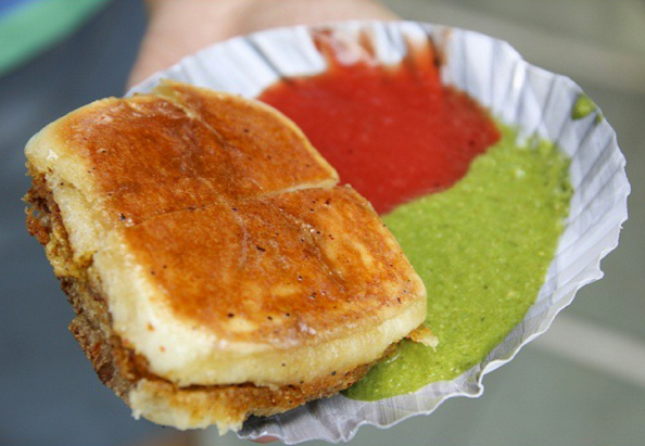 The butter vada pav at Jay Bhavani in ahmedabad