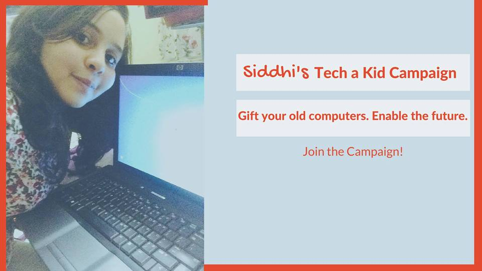 Gift Your Old Computer And Enable The Future, Join Vadodara Causes and Siddhi's Teach A Kid Campaign