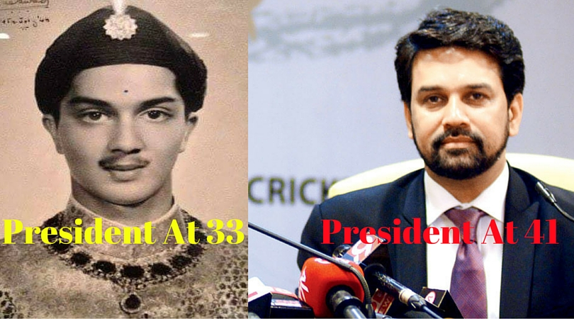Vadodara's Fatehsinghrao Gaekwad was the youngest BCCI President, Not Anurag Thakur