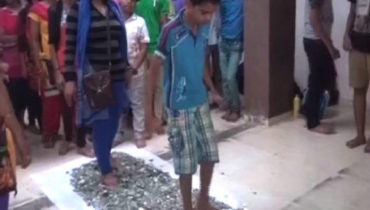 This Vadodara Tuition Teacher Makes Students And Parents Walk Barefoot On Broken Glass